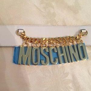 Moschino Jeremy Scott DRESS BELT WITh LOGO CHARMS